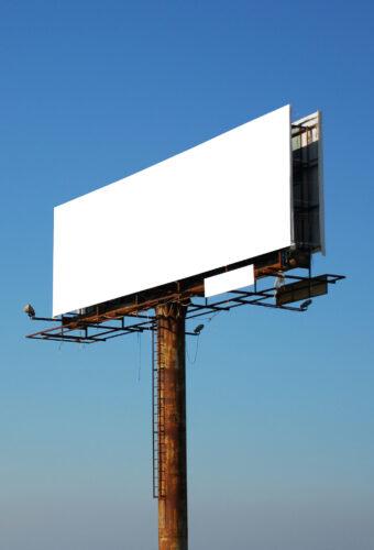Реклама с плоским информационным полем (баннеры, щиты).