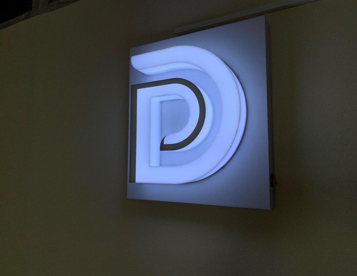 Объемные буквы с полным свечением